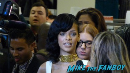 rihanna signed autograph photo rare promo hot sexy Rihanna Nude perfume meet and greet autograph signing rare perfume bottle macy's rare signing autographs for fans