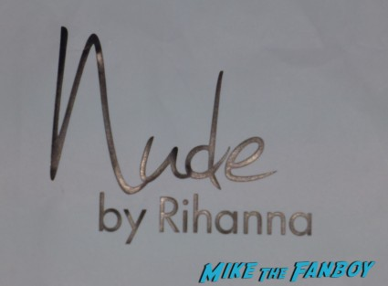 Rihanna Nude perfme meet and greet autograph signing rare perfume bottle macy's rare