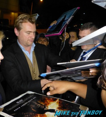 Christopher Nolan signing autographs for fans rare dark knight rises rare promo hot sexy director rare q and a screening promo