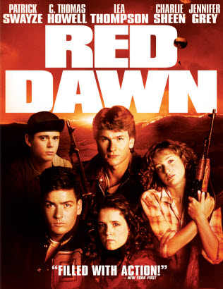 red dawn movie poster promo c. thomas howell patrick swayze charlie sheen hot sexy original film