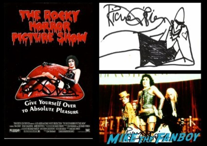 Richard O'Brien signed autograph rocky horror picture show photo poster original sketch promo photo