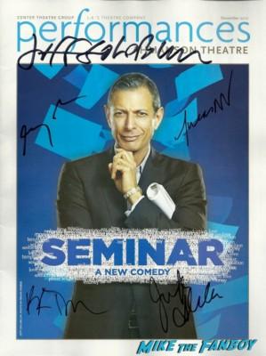 SEMINAR signed program autograph Jeff Goldblum earth girls are easy promo photo independance day