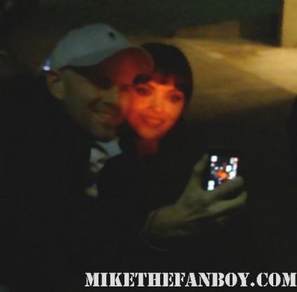 Christina Ricci signing autographs for fans hot sexy pan am rare promo signature penelope black snake moan
