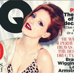 Jessica Chastain hot sexy British GQ Magazine naked photo shoot zero dark thirty rare promo the help tree of life