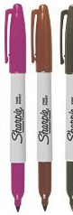 2 and a half sharpie pens markers maroon purple brown black sharpie rare