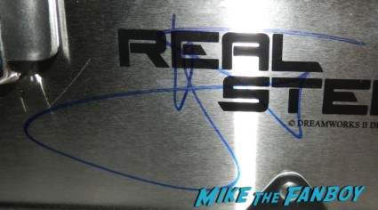 hugh jackman signed autograph real steel toolbox rare promo hot sexy promo poster Sexy hugh jackman signing autographs for fans rare promo wolverine x men star real steel hot sexy photo shoot rare promo