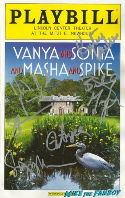 Vanya and sonia and masha and spike signed autograph playbill David Hyde Pierce and Sigourney Weaver signed autograph frasier ripley