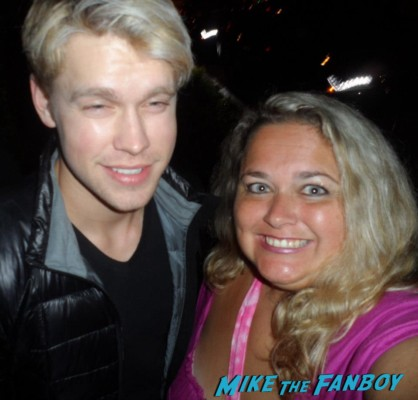chord-overstreet signing autographs for fans  rare promo hot sexy blonde fratboy glee star