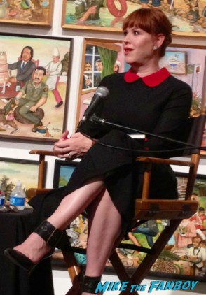 nasty molly ringwald at her book signing in 2012 signing autographs for fans rare promo the facts of life star