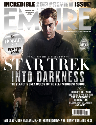 Chris pine captain kirk empire magazine cover star trek into darkness cover rare promo this means war rare