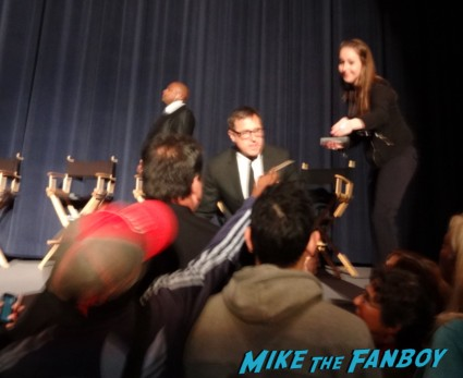 david o russell signing autographs for fans at a silver linings playbook q and a panel with Bradley Cooper, Jacki Weaver, Chris Tucker, Shea Whigham, Pauly Herman, Dash Mihok and David O. Russell signed autograph poster rare promo