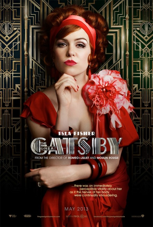 isla fisher the great Gatsby individual promo movie poster hot sexy rare baz luhrmann teaser poster one sheet rare