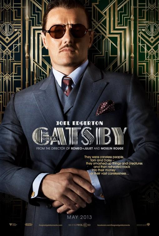 joel edgerton the great Gatsby individual promo movie poster hot sexy rare baz luhrmann teaser poster one sheet rare
