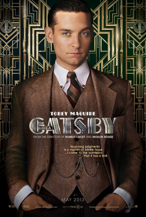 toby Maguire the great Gatsby individual promo movie poster hot sexy rare baz luhrmann teaser poster one sheet rare