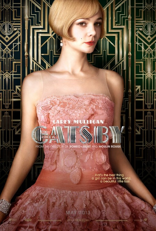 Carey Mulligan the great Gatsby individual promo movie poster hot sexy rare baz luhrmann teaser poster one sheet rare