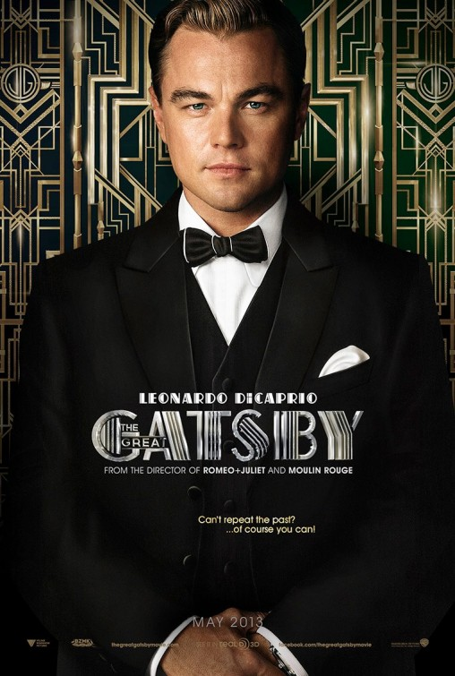 Leonardo DiCaprio the great Gatsby individual promo movie poster hot sexy rare baz luhrmann teaser poster one sheet rare