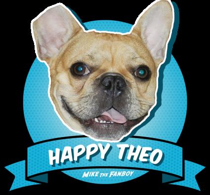 Theo french bulldog rare promo happy theo award for awesome celebrity encounters rare promo