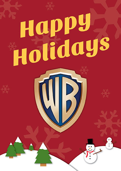 happy holidays christmas from Warner Bros magic mike the dark knight rises rare promo banner still