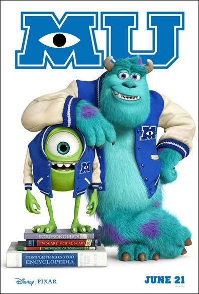 Monsters University movie poster teaser one sheet monster's university rare promo college animated classic pixar walt disney