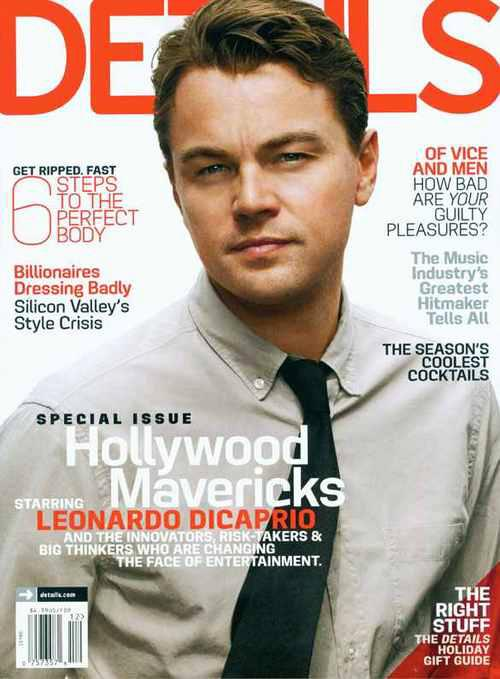 Leonardo DiCaprio Hot sexy Details magazine cover december 2012 photo shoot rare promo django unchained rare promo promo