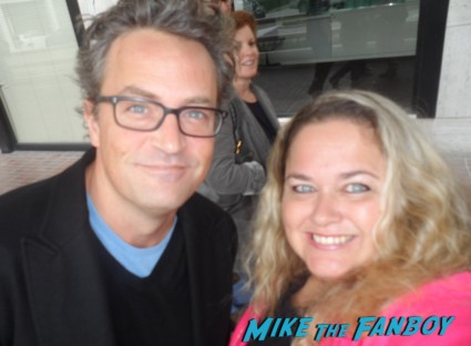 matthew perry fan photo rare promo chandler bing rare friends star hot sexy growing pains go on fan photo signed autograph signing autographs