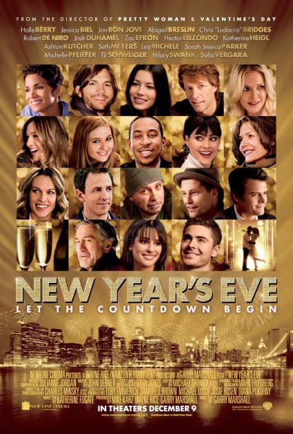 New Years eve movie poster promo with michele pfeiffer ashton kutcher lea michele katherine heigl sarah jessica parker