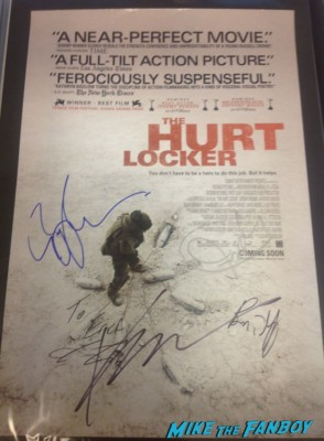 Kathryn Bigelow anthony mackie signed autograph the hurt locker promo mini movie poster hot rare