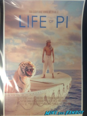Ang lee signed autograph life of pi mini promo movie poster hot sexy rare director