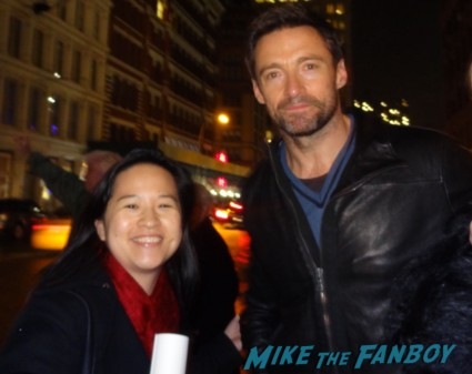 hugh jackman fan photo signing autographs for fans rare promo real steel star hot sexy australian les miserables star