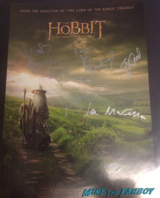 the hobbit signed autograph comic con promo mini movie poster andy serkis martin freeman richard armitage hot sexy the hobbit poster