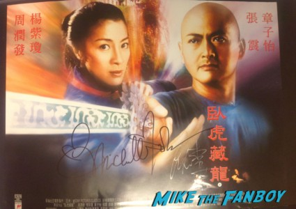 Ang lee signed autograph crouching tiger hidden dragon mini promo movie poster hot sexy rare director