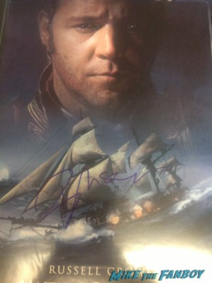 Russell Crowe signed autograph master and commander promo mini movie poster signed photo rare promo