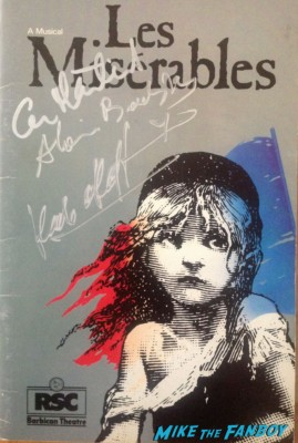 Sir Cameron Mackintosh signed autograph les miserables original program signing autographs for fans at the les miserables premiere in new york city rare promo signed