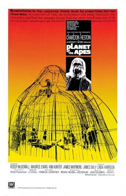 planet of the apes rare promo movie poster teaser charleton heston rare one sheet promo original poster