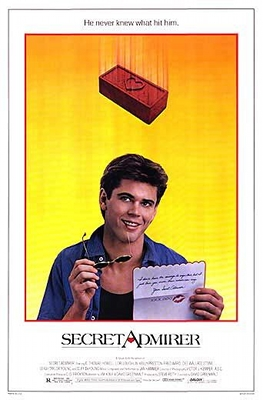 secret admirer movie poster promo press still hot rare movie poster promo c. thomas howell