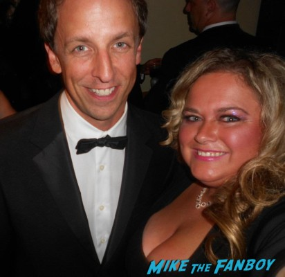 seth myers fan photo saturday night live rare signing autographs for fans rare promo hot sexy promo