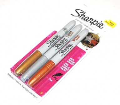 sharpie-metallic-marker-pens-assorted-gold-silver-bronze-colours colors rare new sharpie silver markers rare