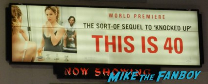 this is 40 world movie premiere debacle main sign rare promo leslie mann paul rudd judd apatow movie premiere red carpet