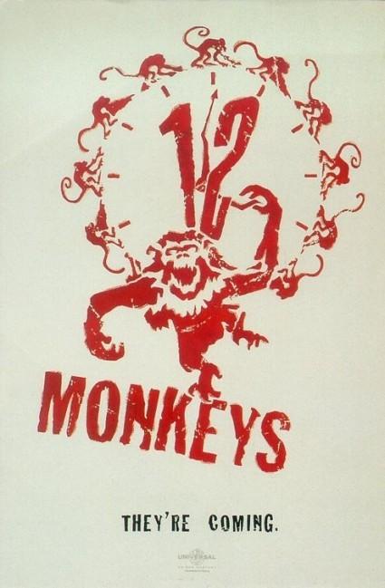 12 monkeys teaser movie poster promo hot rare bruce willis madeline stowe brad pitt promo terry gilliam film rare