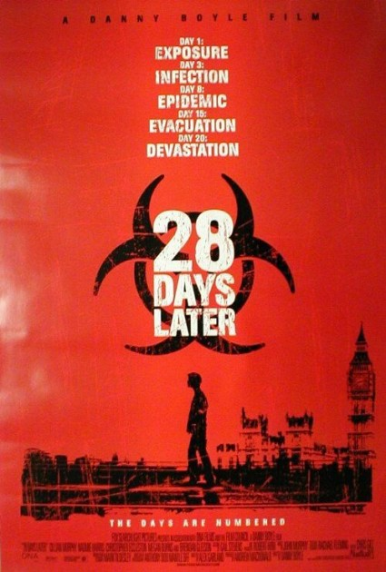 28 days later one sheet movie poster promo danny boyle rare hot cillian murphy promo one sheet teaser poster