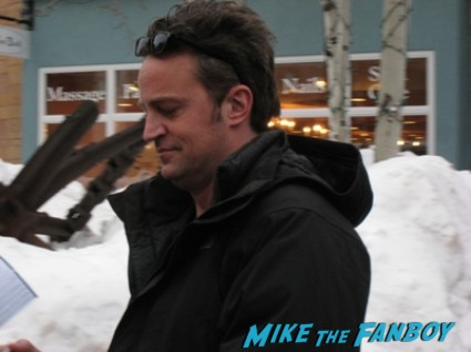 matthew perry rare sundance photo hot sexy friends star rare studio 60 on the sunset strip logo cast photo matthew perry fan photo rare friends star chandler bing go on new series rare pinky mike the fanboy