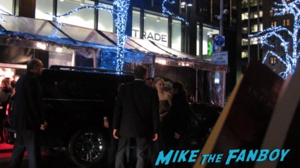 Amanda Seyfried signing autographs for fans at the les miserables premiere in new york city rare promo signed