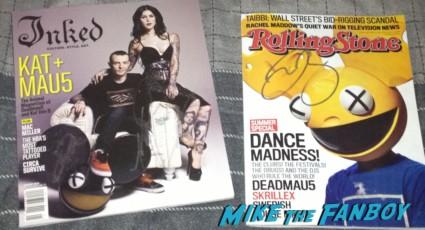 deadmau5 signed autograph rolling stone magazine Inked Magazine hot sexy rare promo kat von d rare promo magazine cover rare dj signature