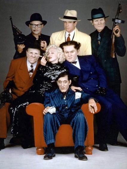1990 dick tracy cast photo rare promo  dick tracy press still al pacino Warren Beatty Dick Tracy Press Promo Movie Still Rare promo hot sexy comic book come to life