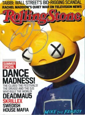 deadmau5 signed autograph rolling stone magazine hot sexy rare promo kat von d rare promo magazine cover rare dj signature