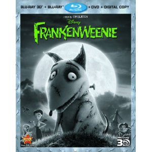 frankenweenie box art cover tim burton dvd cover blu ray rare frankenweenie tim burton press promo still rare sparky hot promo stop motion animated classic rare