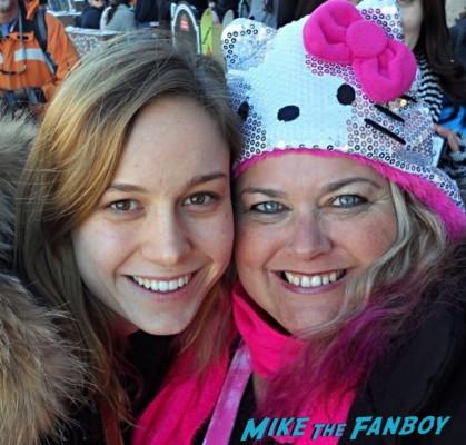 Brie Larson Fan Photo signing autographs for fans sundance film festival 2013 hot sexy star rare promo