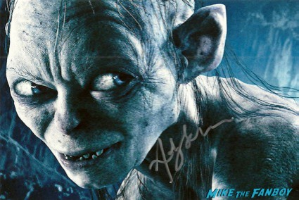 Andy Serkis signed autograph promo photo gollum lord of the rings 13 going on 30 signed photo the hobbit