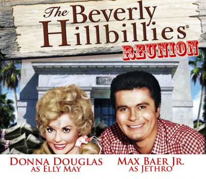 Donna Douglas and Max Baer Jr. from The Beverly Hillbillies reunion at the hollywood collector's show in los angeles