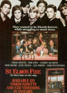 st. elmo's fire rare promo ad movie poster promo hot sexy demi moore rob lowe andrew mccarthy